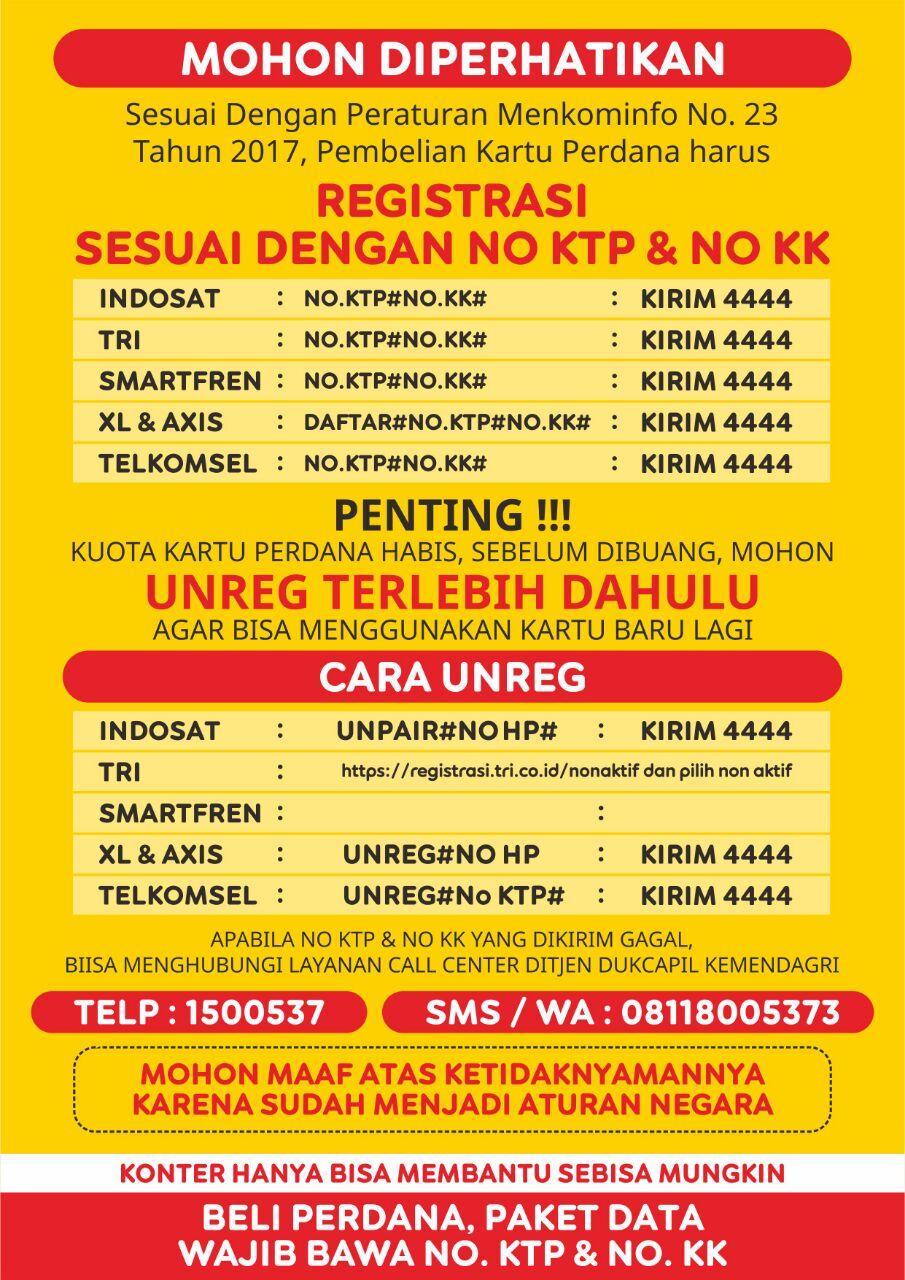 Cara Unreg Sim Card Telkomsel 3 Xl Indosat Dan Smartfren